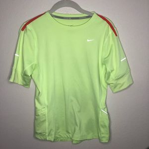 Nike Running Reflect Red Line Volt Yellow Tee S